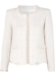 IRO Wondrous Distressed Cotton-blend Bouclé Jacket