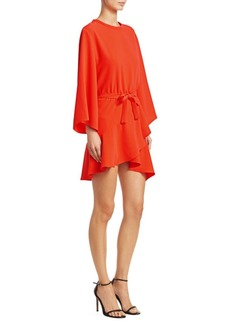 IRO Wrap Flounce Hem Mini Dress
