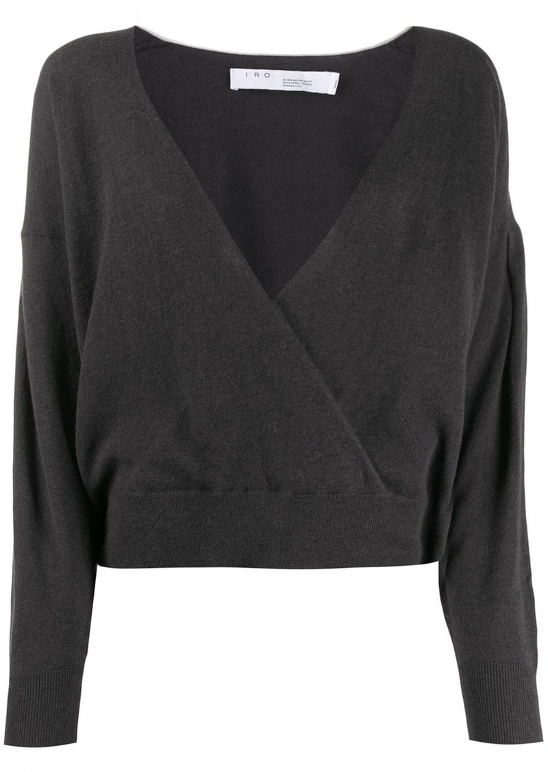 IRO wrap-style knitted top