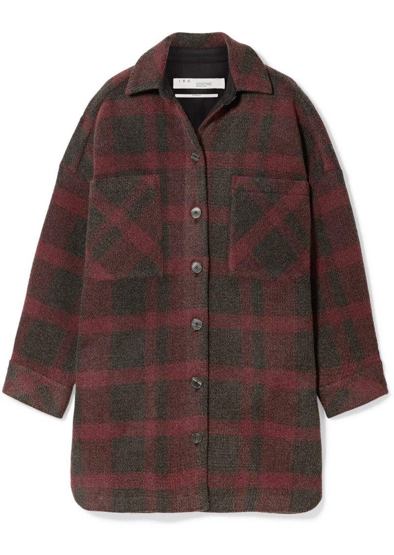 IRO Zunky Oversized Checked Flannel Jacket