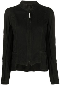 Isaac Mizrahi fitted zip-up jacket