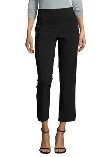 Isaac Mizrahi New York Ankle Length Slim Straight Pull on Pants with Side Slit