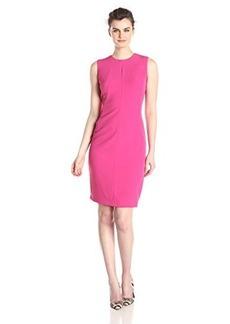 Isaac Mizrahi New York Women's Multi Seamed Stretch Crepe Sheath Dress
