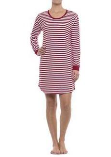Isaac Mizrahi Weekend Striped Sleep Shirt - Long Sleeve (For Woman)