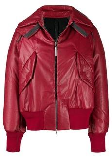 Isaac Mizrahi leather bomber jacket