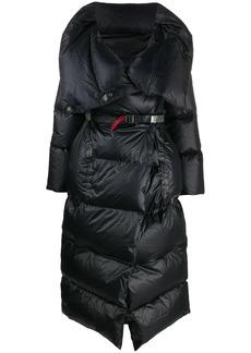 Isaac Mizrahi padded wrap coat with utility belt