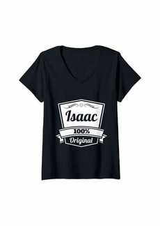 Isaac Mizrahi Womens Isaac Gift Idea & Custom Design V-Neck T-Shirt
