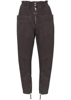 Isabel Marant Lecia gabardine cargo trousers