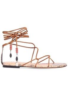 Isabel Marant 10mm Jindia Suede Lace-up Sandals