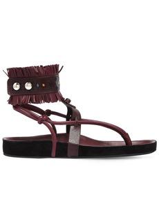 Isabel Marant 20mm Eliby Fringed Leather Sandals