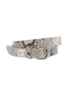Isabel Marant 25mm Zap Python Printed Leather Belt