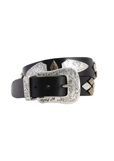 Isabel Marant 30mm Dern Leather Belt W/studs