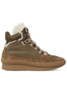 Isabel Marant 60mm Brendta Shearling & Suede Boots