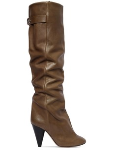 Isabel Marant 90mm Lacine Tall Leather Boots