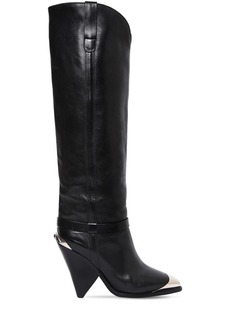 Isabel Marant 90mm Lenskee Leather Tall Boots