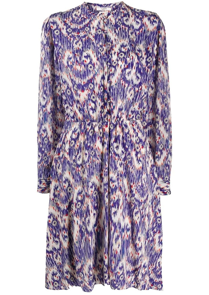 Isabel Marant abstract pattern day dress