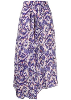 Isabel Marant abstract print maxi skirt