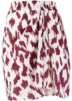 Isabel Marant abstract print short skirt