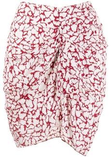 Isabel Marant abstract print wrap skirt