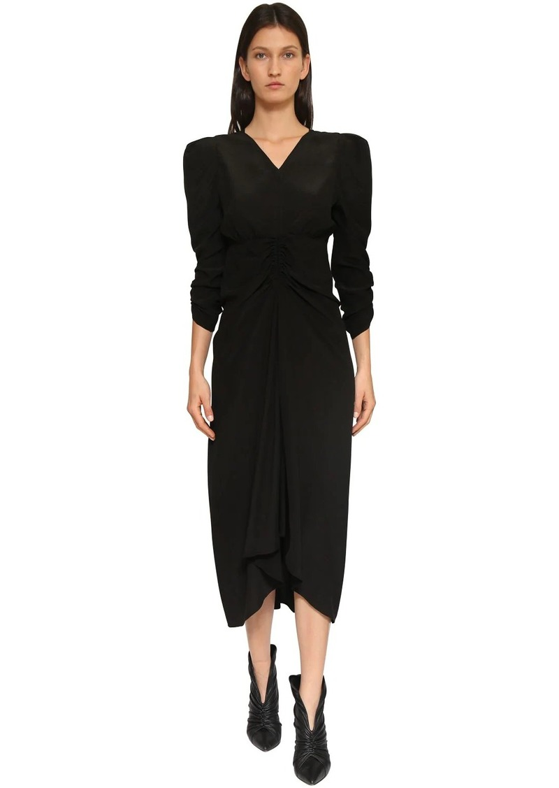 Isabel Marant Albi Silk Crepe De Chine Midi Dress