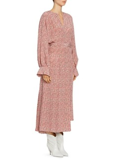 Isabel Marant Alexandra Silk Asymmetric Wrap Dress