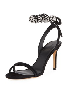 Isabel Marant Alrin Jeweled Ankle-Strap Sandal