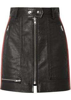 Isabel Marant Alynne Striped Leather Mini Skirt