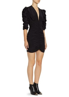 Isabel Marant Andora Silk Ruched Mini Dress