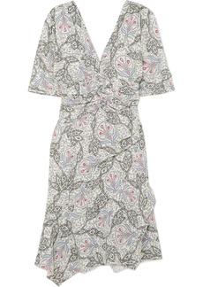 Isabel Marant Arodie Printed Crepe De Chine Dress