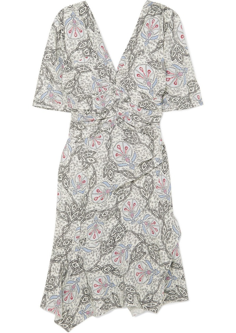 Isabel Marant Arodie Printed Crepe De Chine Dress