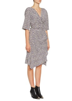 Isabel Marant Arodie Stretch-Silk Crepe Print Dress