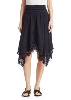 Isabel Marant Rodney Asymmetric Cotton Lace Skirt