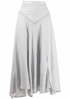 Isabel Marant asymmetric flared midi skirt