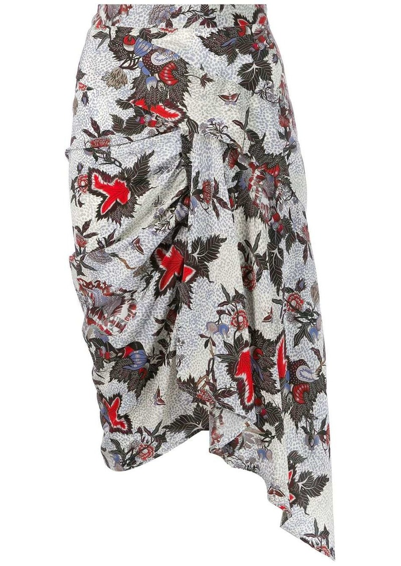 Isabel Marant asymmetric printed skirt