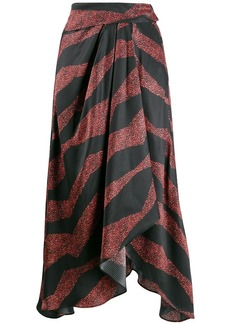 Isabel Marant asymmetric printed skirt