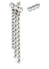 Isabel Marant Asymmetrical Crystal Earrings