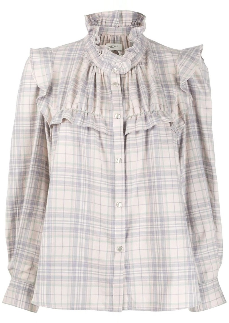 Isabel Marant Atedy checked blouse