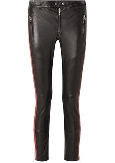 Isabel Marant Aya Paneled Leather Skinny Pants