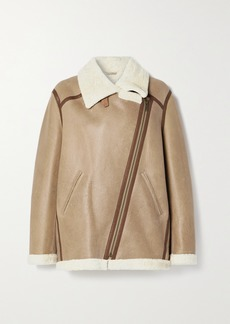 Isabel Marant Azare Leather-trimmed Shearling Jacket