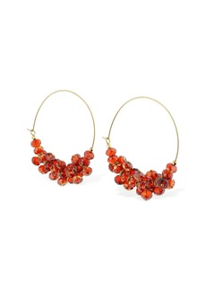 Isabel Marant Beaded Hoops Earrings