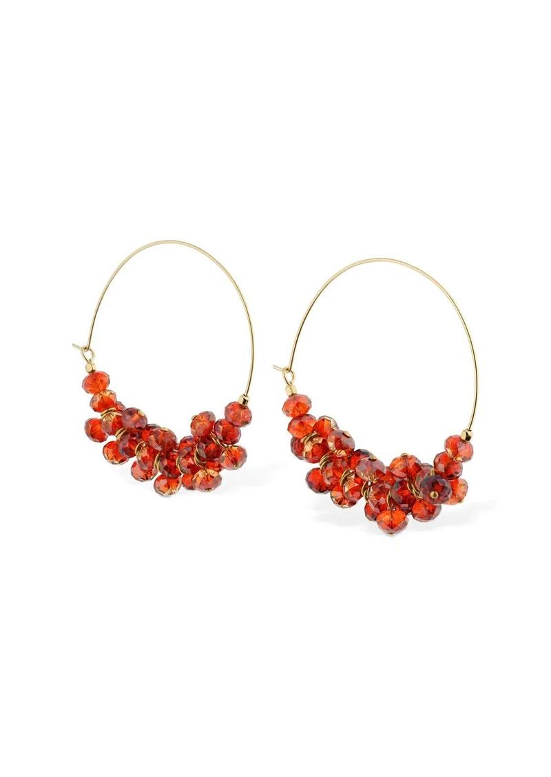 Isabel Marant Beaded Hoops Earrings