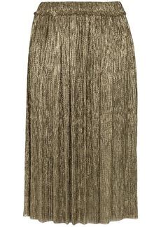 Isabel Marant Beatrice lamé plissé skirt