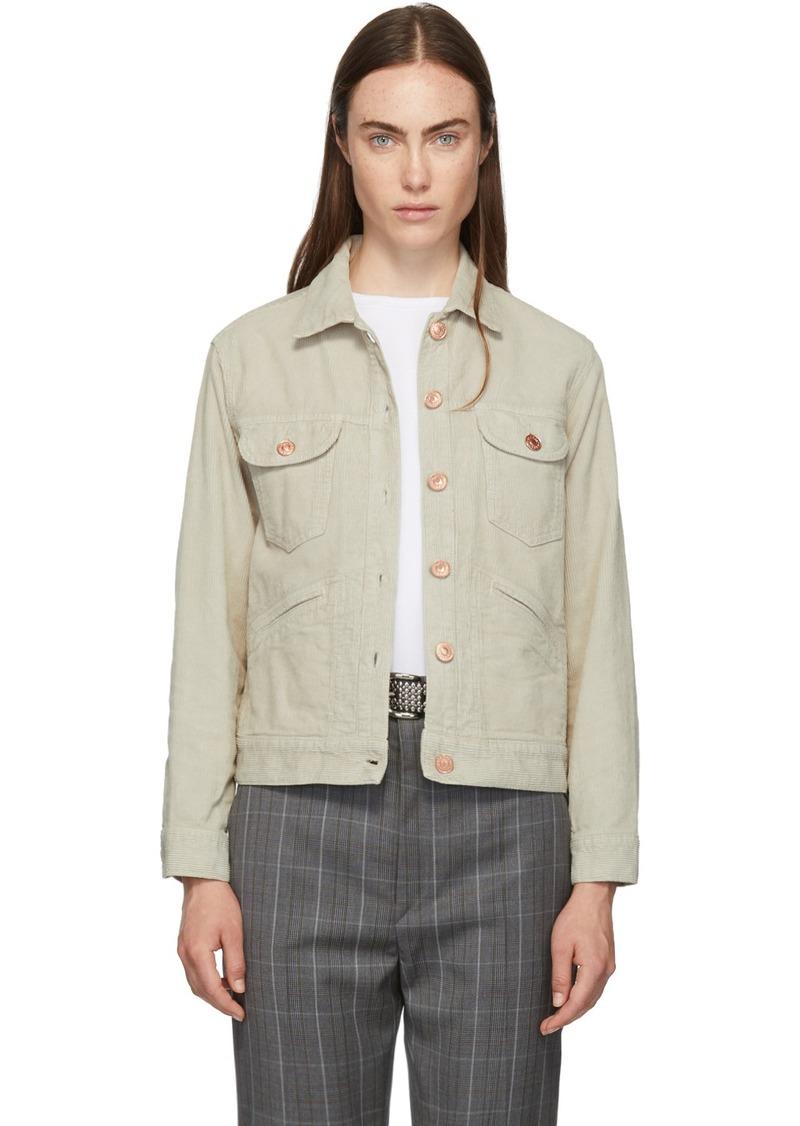 Isabel Marant Beige Corduroy Foftya Jacket