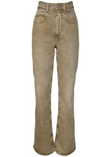 Isabel Marant Belvirac Cotton Denim Flared Jeans