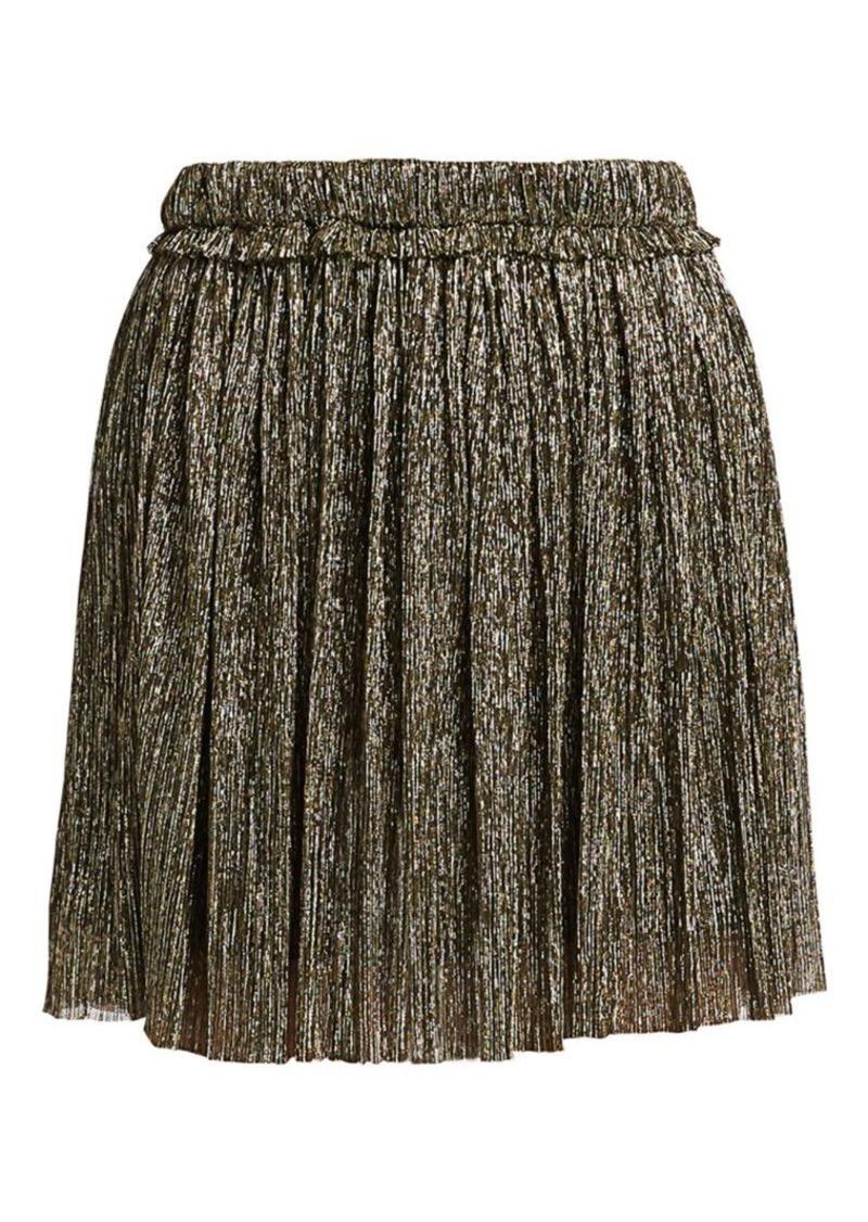 Isabel Marant Benedicte Lurex Pleated Mini Skirt