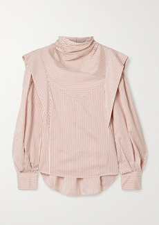 Isabel Marant Bianca Layered Striped Silk-twill Blouse