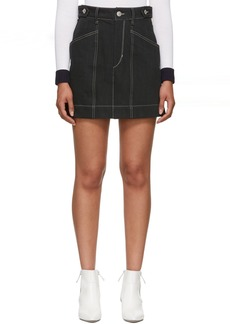 Isabel Marant Black Denim Gayle Miniskirt