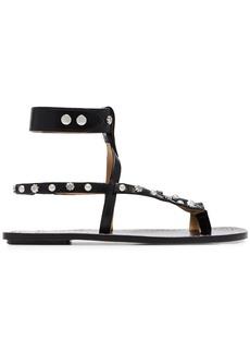 Isabel Marant black engo studded leather sandals