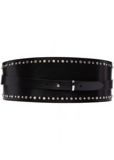 Isabel Marant Black Jackeen Elegant Wide Belt