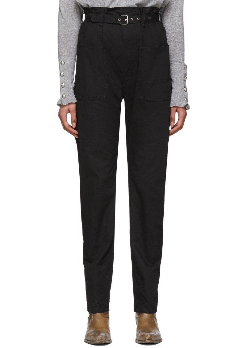 Isabel Marant Black Kelinny Paper Bag Trousers
